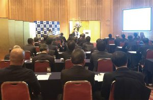 財務省主税局 加藤博之先生の講演の様子